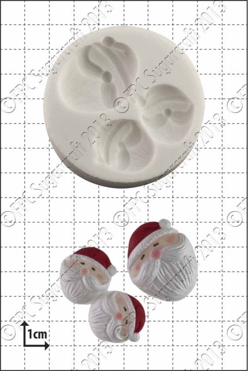 'Mini Santa Faces' Silicone Mould